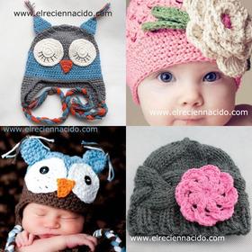 Gorritos de lana para bebés de Cobwebs