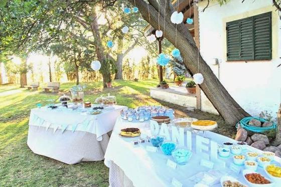 Decoracion Al Aire Libre Para Bautizo ~   la mesa dulce del bautizo de Daniel y la que preparamos al aire libre