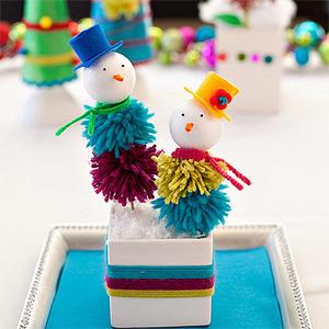 Muñecos de navidad. Manualidades navideñas para hacer con niños
