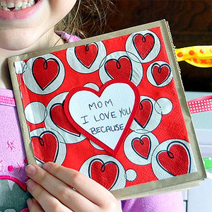 Regalos para San Valentín. Demuestra a mamá todo tu amor con manualidades fáciles como esta.