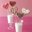 Receta de galletas caseras: Piruletas San Valentín