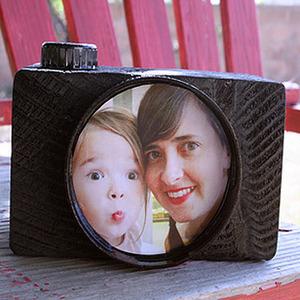 Manualidades para el Día del padre. Original cámara de fotos ¡el marco perfecto!