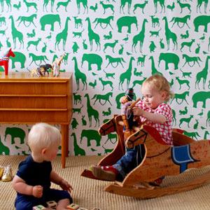 Papeles pintados para decorar dormitorios infantiles. Ferm Living