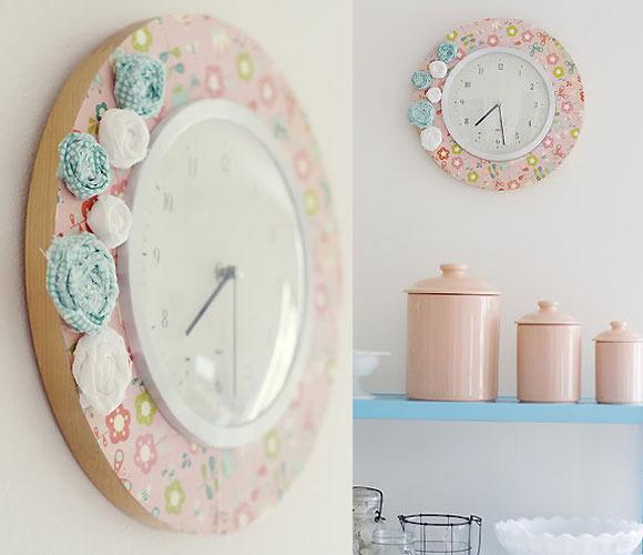 Este original reloj quedará perfecto en cualquier habitación de tu casa