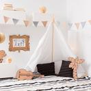 Ideas para decorar dormitorios infantiles con tipis