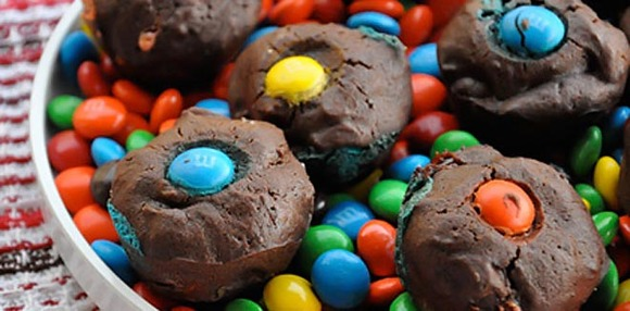 Receta de Brownie.  Botones de Brownies. Una receta fácil para hacer con niños