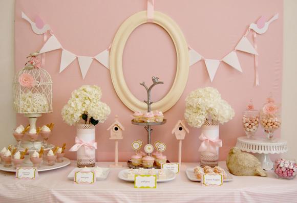 Fiesta en rosa ideal para un Baby Shower