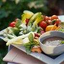 Crudités con salsas variadas.  Recetas fáciles y rápidas.