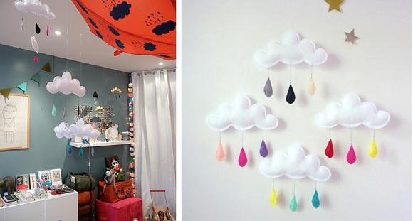 Decoracion habitacion bebe manualidades for Como decorar el techo de mi casa