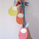 Conejos de pascua de papel para hacer con niños