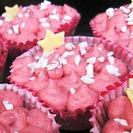 Receta de Cupcakes Rellenos de Mermelada de Frambuesa con Frostin de Mascarpone.