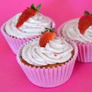 Receta fácil de cupcakes de fresas naturales
