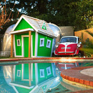 Kids Crooked House. Casitas de jardín mágicas.