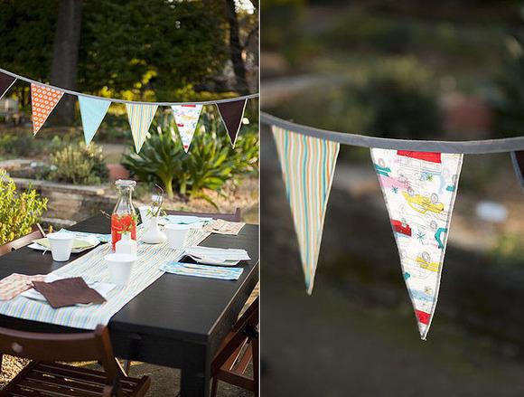 Originales guirnaldas de tela para cumpleaños de ACME Party Box