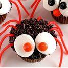 Cupcakes originales de chocolate de araña.  Cupcakes para niños.