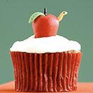 El clásico cupcake de vainilla.