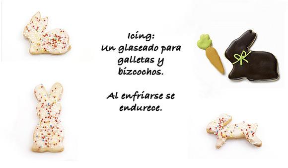 Cobertura de glaseado para galletas, bizcochos y cupcakes.