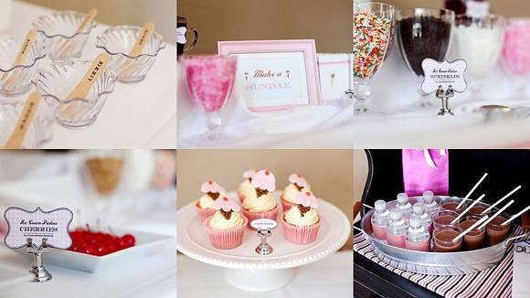 Cupcakes y cookies caseras para una fiesta de cumpleaños para niños