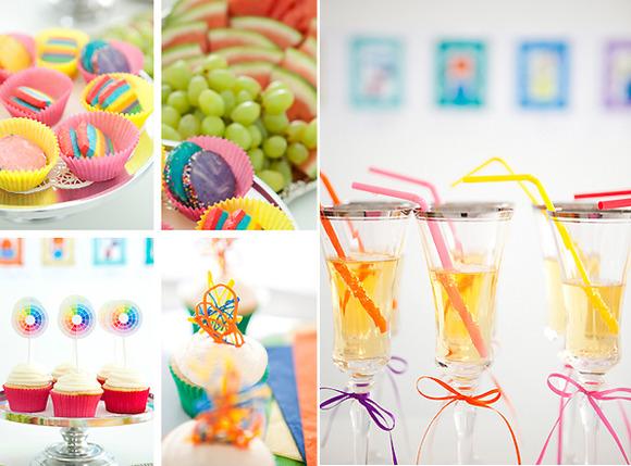 Decoración para una fiesta de cumpleaños para niñas