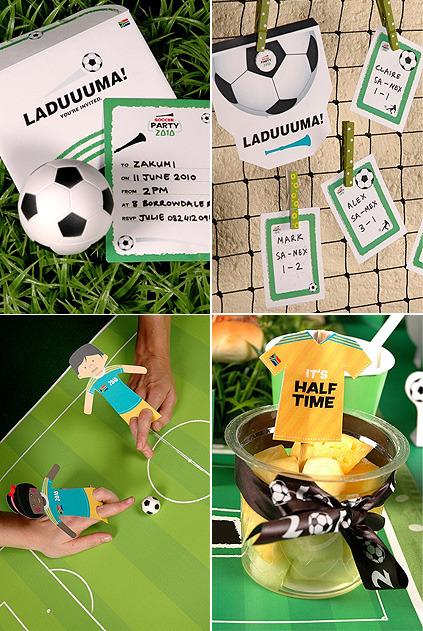 Cumpleaños infantil. La fiesta del fútbol para niños