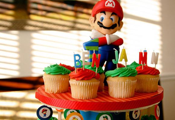 Original cumpleaños de Mario Bross para niños
