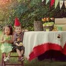 Cumpleaños de gnomos al aire libre