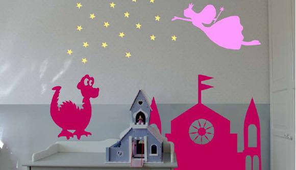 Vinilos decorativos para niñas de Apple Design