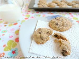 Receta de cookies de mantequilla de cacahuete con pepitas de chocolate