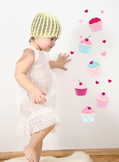 Pegatinas de cupcakes