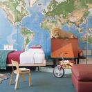 Decorar con mapas el dormitorio de los niños
