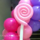 Una piruleta de globos