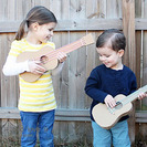 Guitarras de cartón para niños