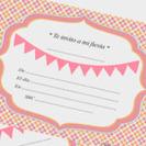 Invitaciones imprimibles GRATIS en La Fiesta de Olivia