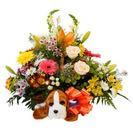 Gran cesta de flores para Nacimiento