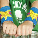 Puños de Súper Héroe para hacer con niños