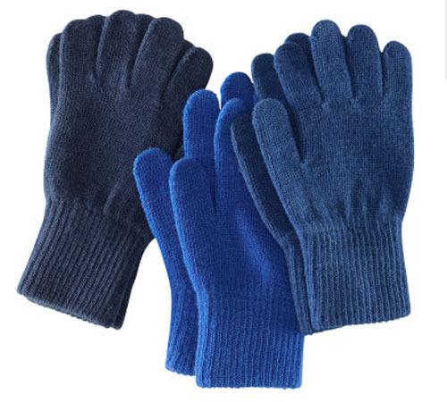 guantes azules en un pack para todos los hermanos