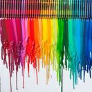 Original cuadro con ceras Crayola
