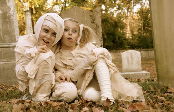 Disfaces caseros de niños para halloween