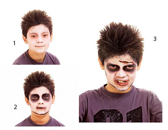 Con Mis Propias Manos Maquillaje Para Halloween Zombie - Maquillaje-zombie-hombre