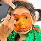 Maquillaje para niños Halloween: Calabaza y esqueleto
