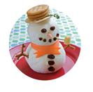 Aperitivos orginales de Navidad - Queso con galletas