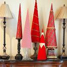 Originales árboles de Navidad de tela