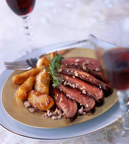 Receta de Navidad - Magret de pato con salsa de grosellas