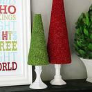 Cómo hacer árboles de Navidad con purpurina