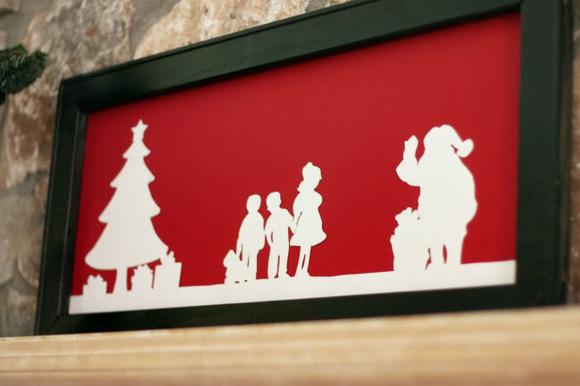 Cuadro de Navidad para hacer con niños