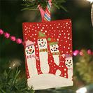 Pintando con las manos. Adornos para el árbol de Navidad.