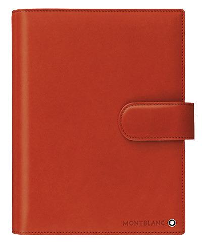 Organizador mediano de piel roja Montblanc