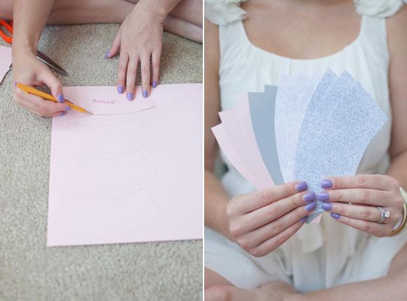 Guirnaldas paso a paso: Recortamos los cobertores de papel