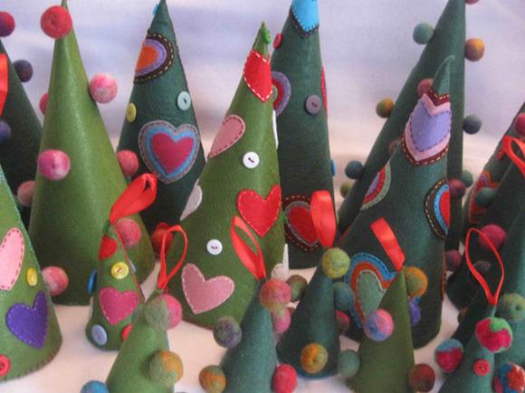 Decoracion de navidad con fieltro