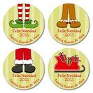 Fun Choices... pegatinas, tarjetas de navidad ¡muy originales!